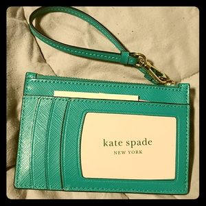 Kate Spade Spencer Card Case Wristler Fiji Green